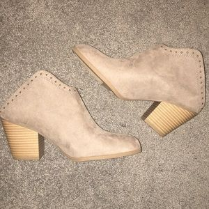 New without tags, tan booties